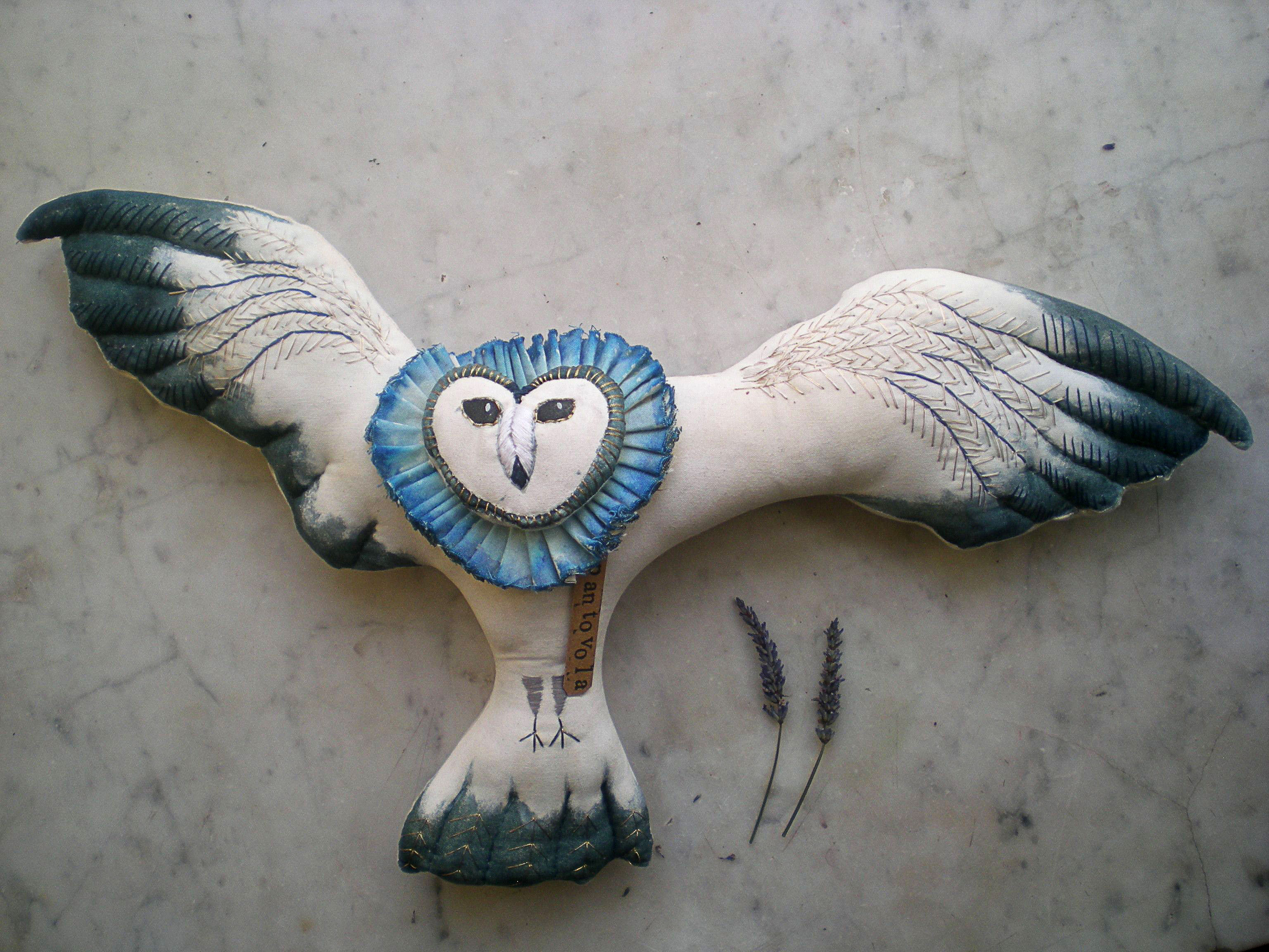 owl art doll