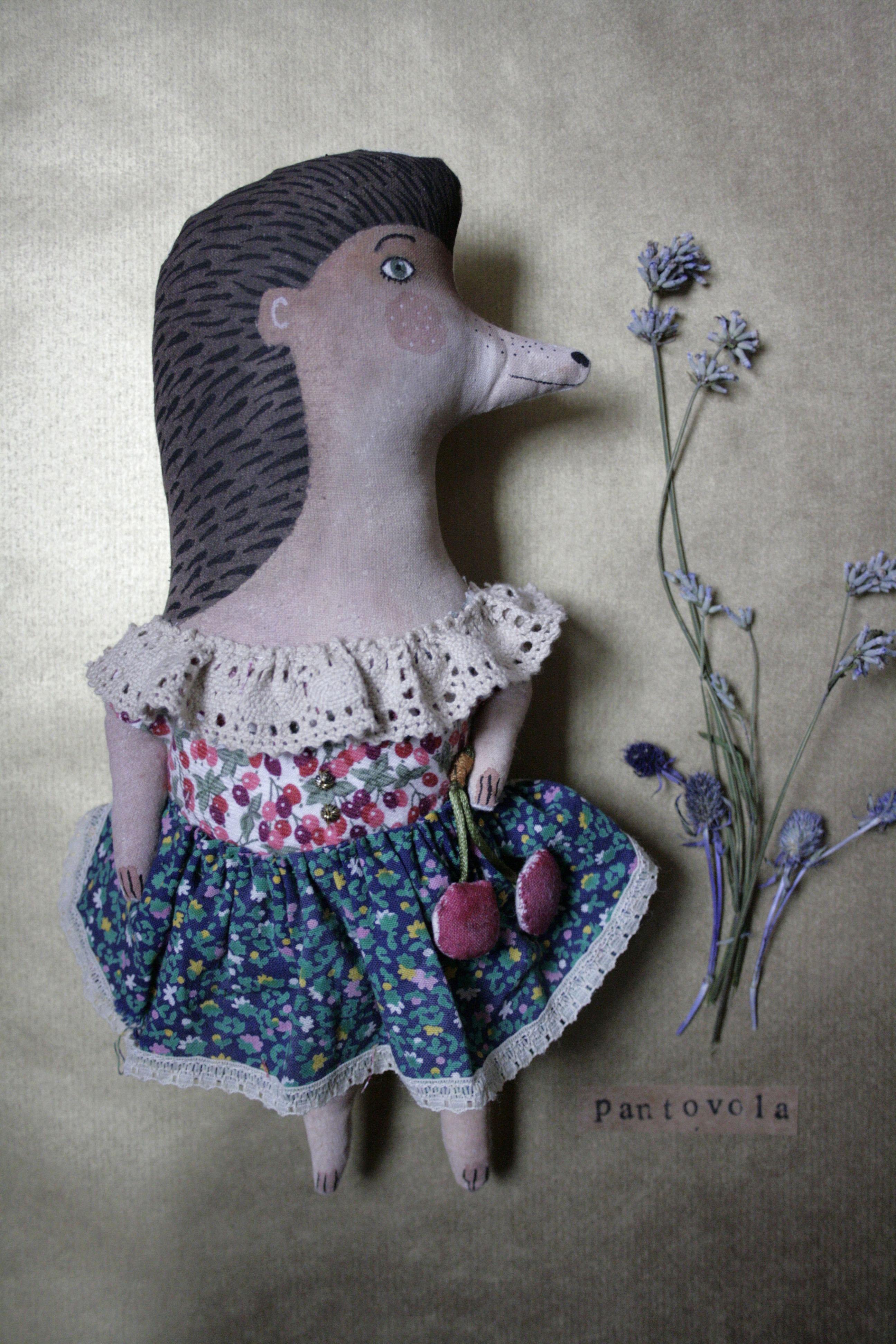 porcupine art doll