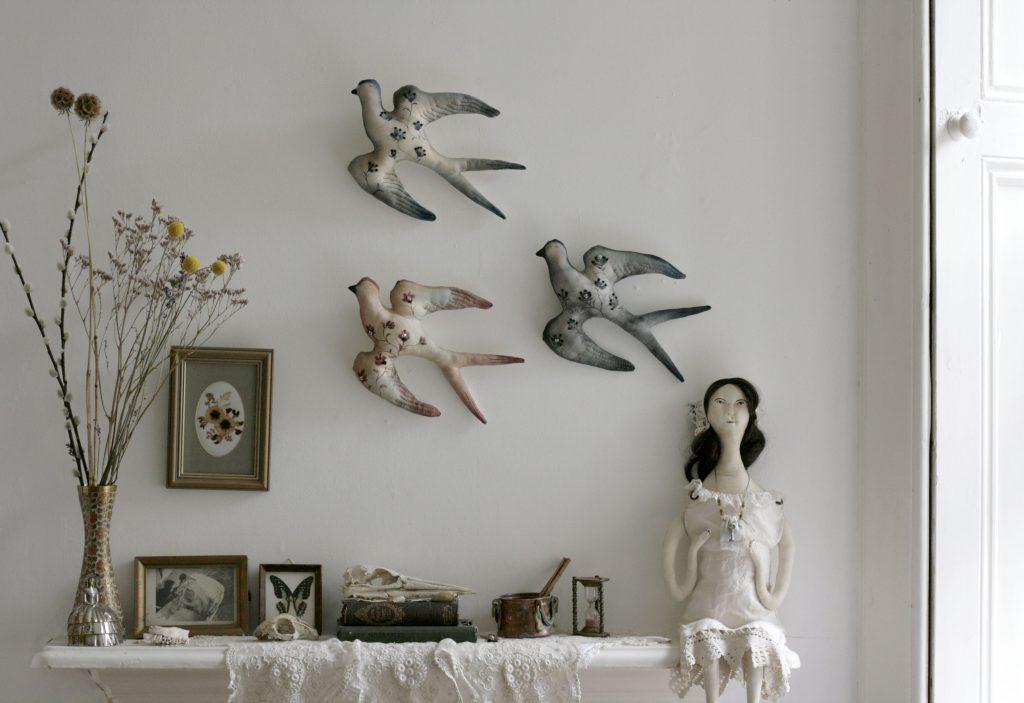 bird sculptures