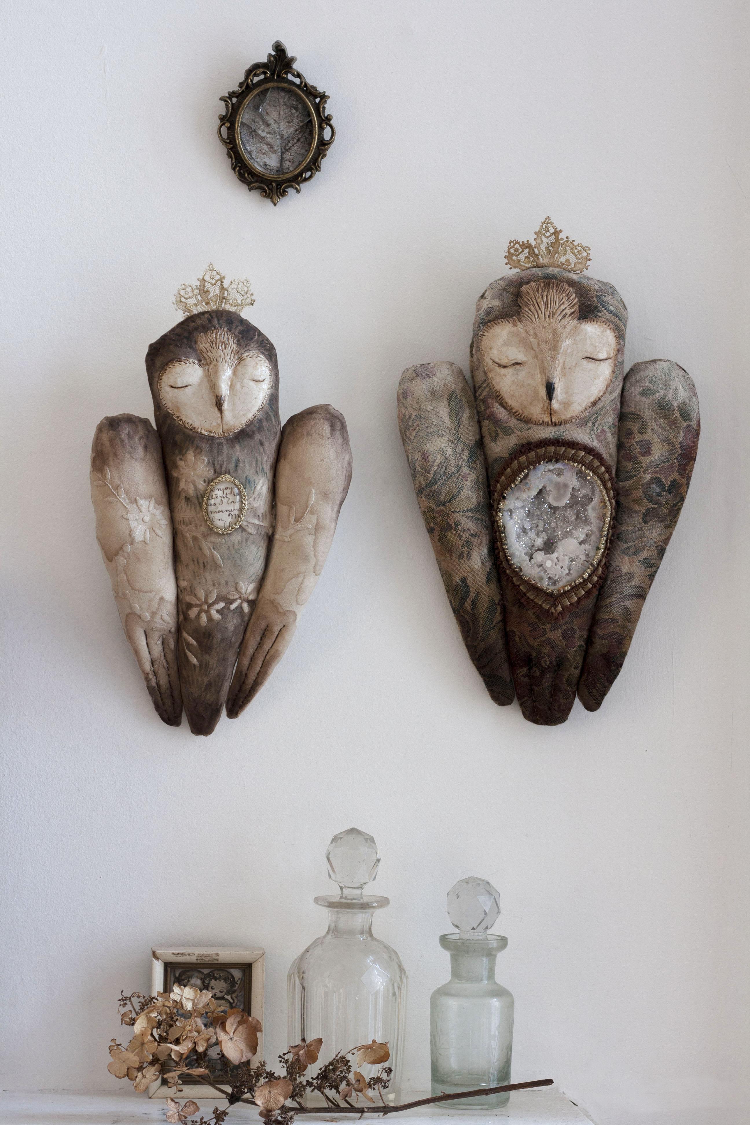 textile owls