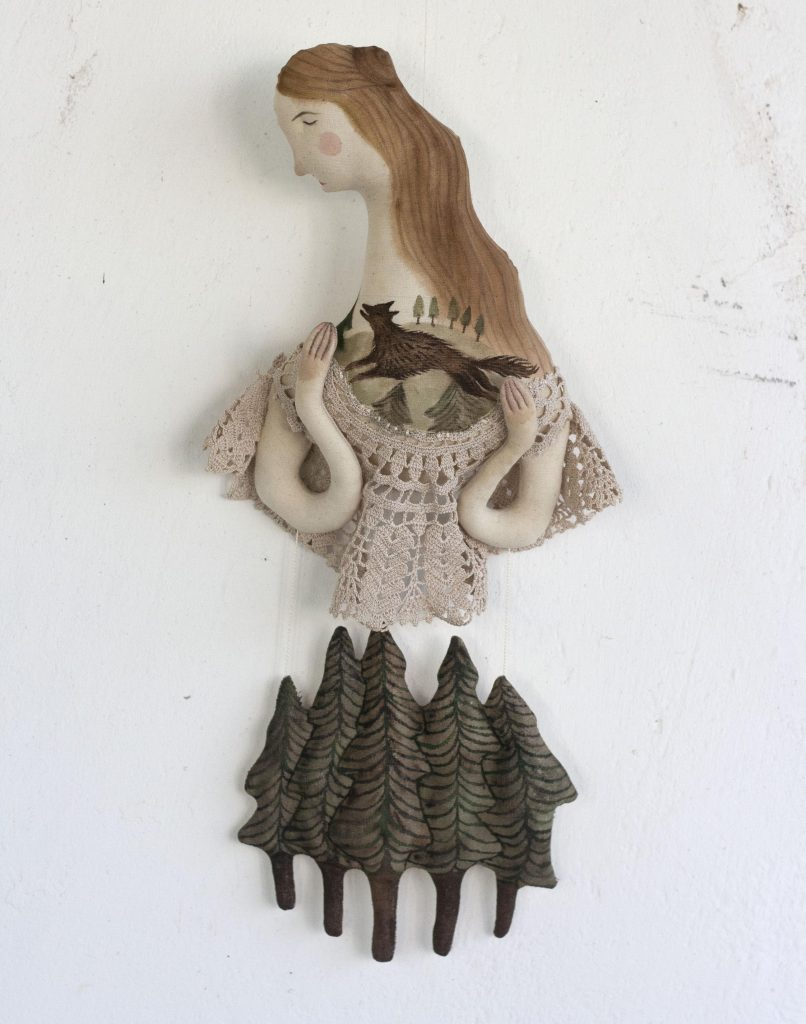 art dolls and textile art