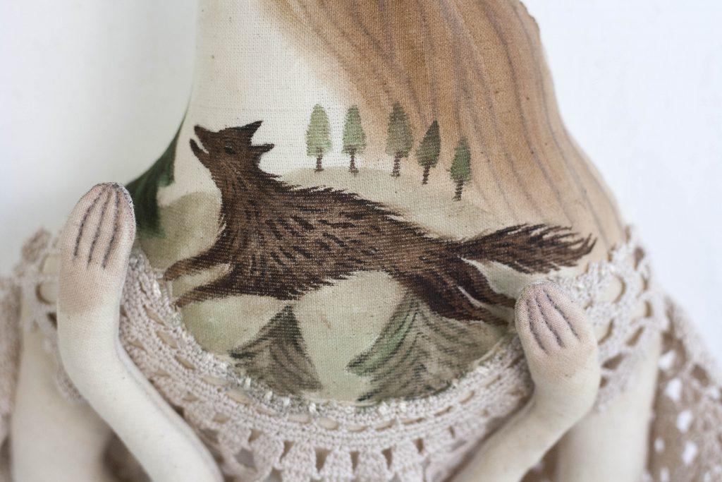 folk art wolf