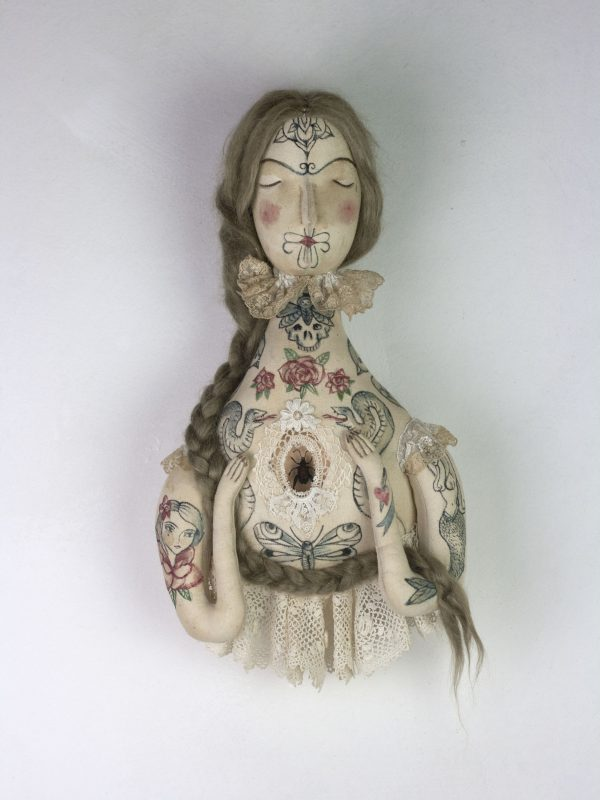 victorian tattoo doll