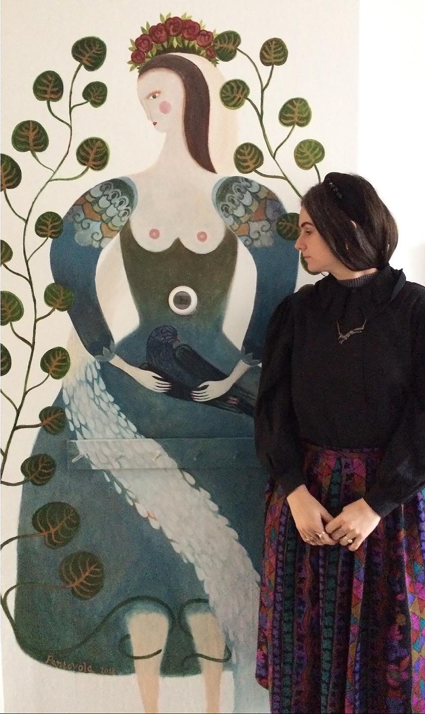folk art mural
