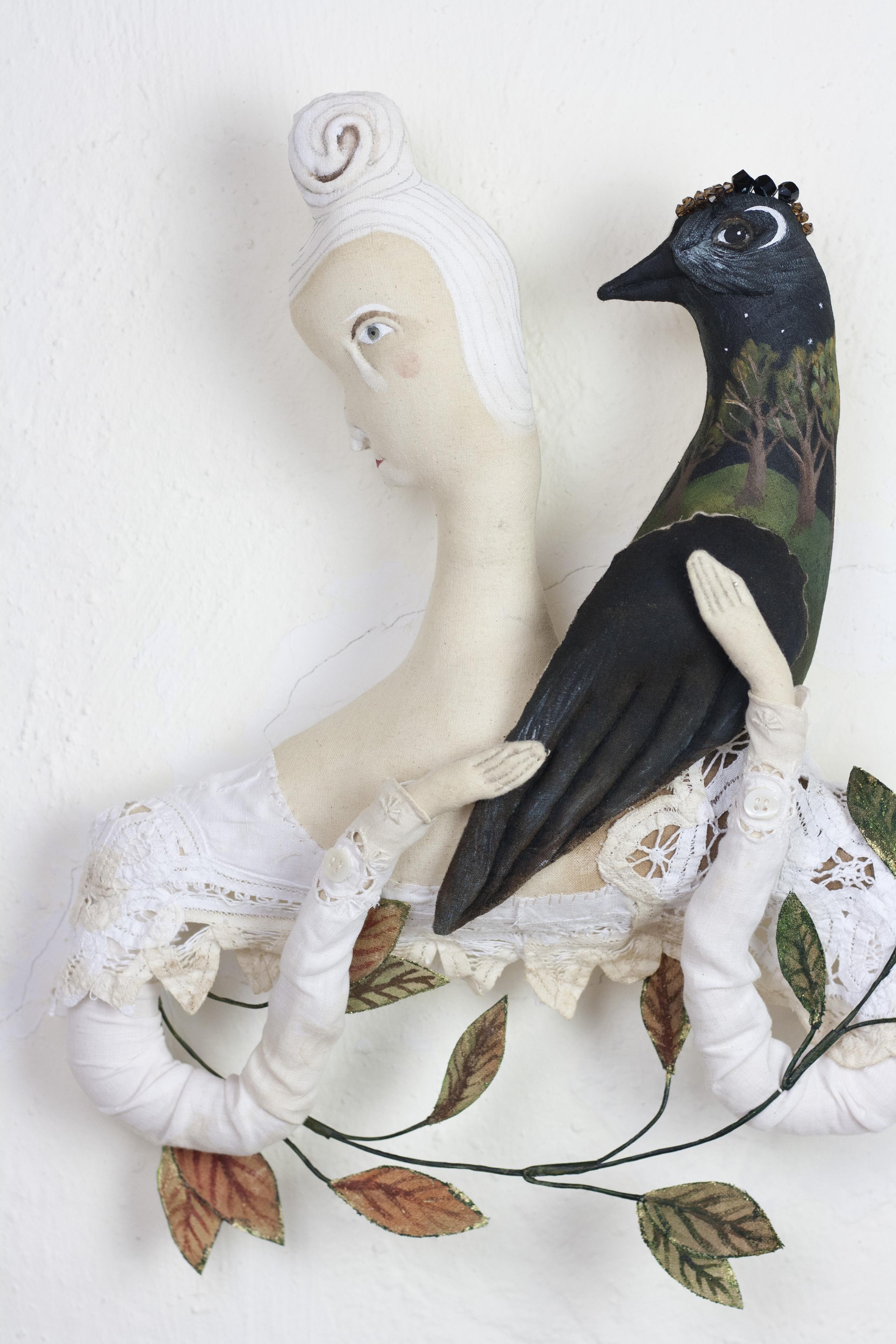 textile art doll