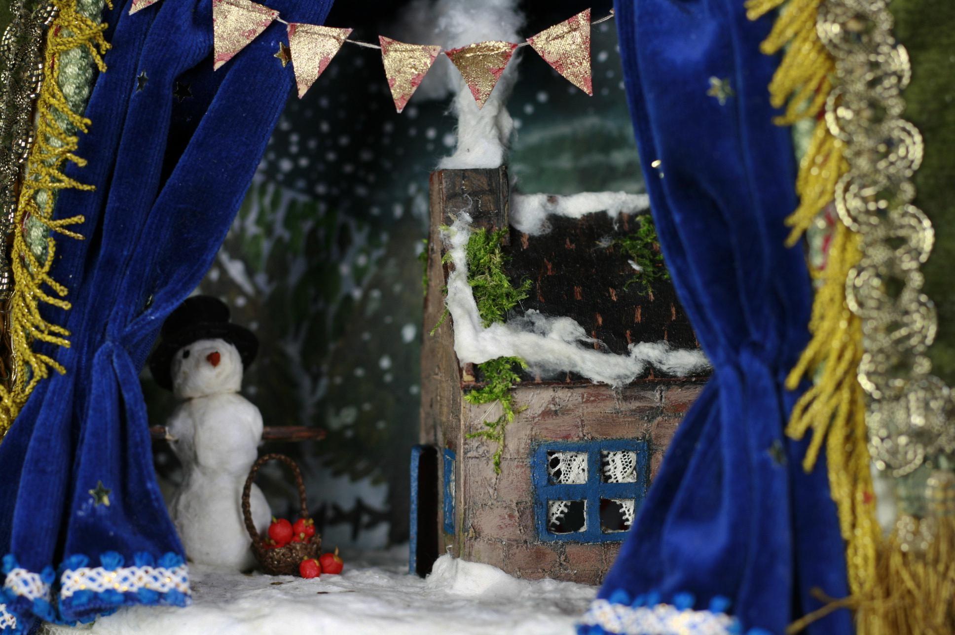 dollhouse snow