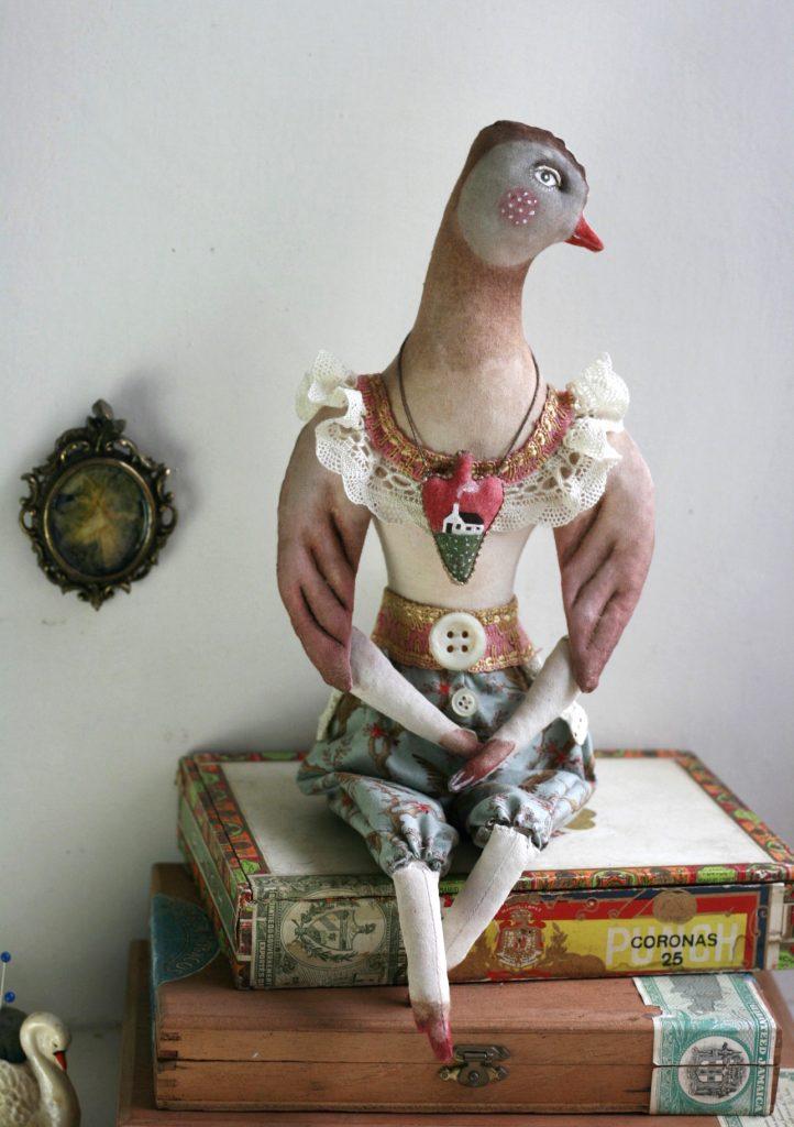 fabric bird doll