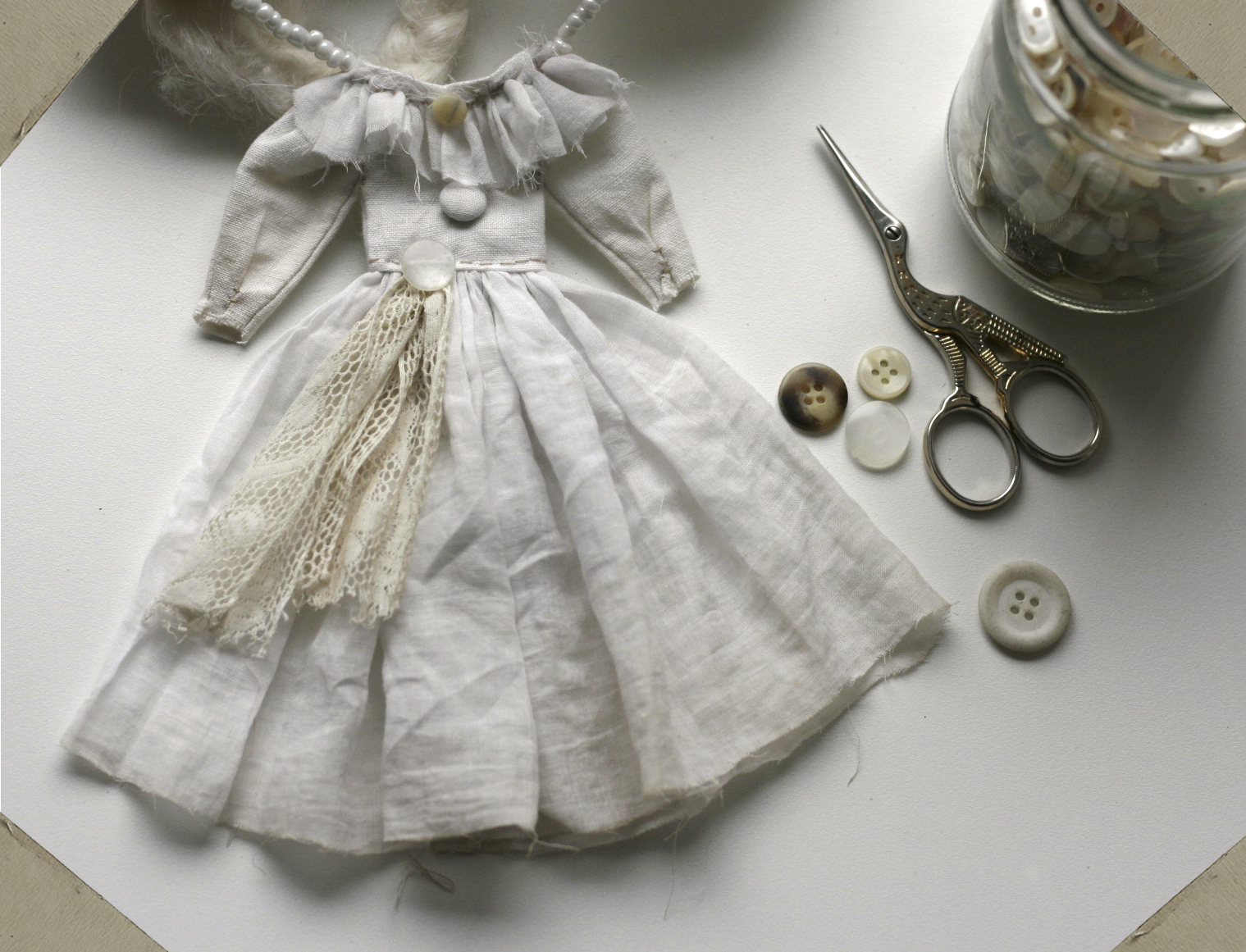 handmade doll dress