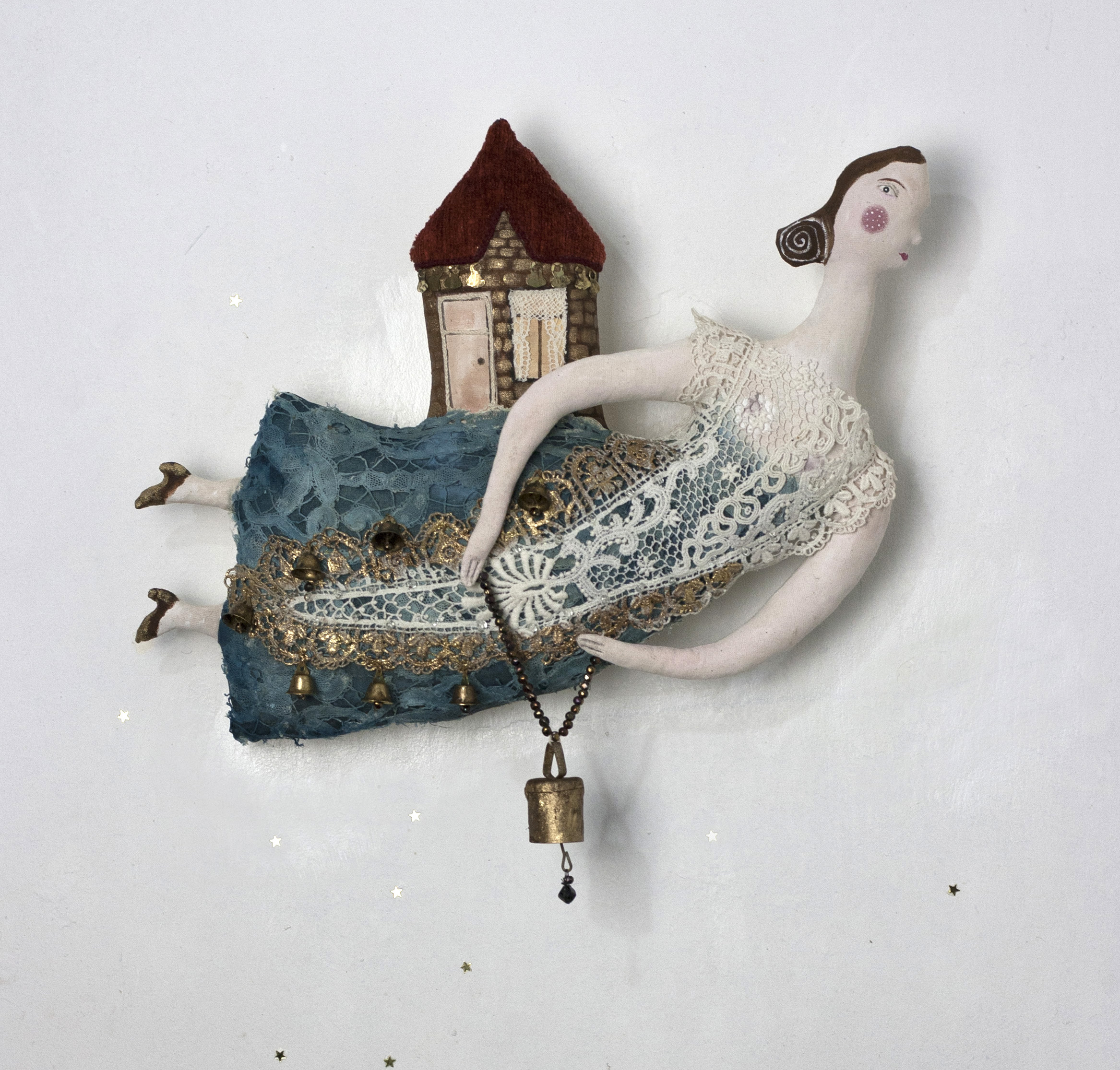 """The Bell House Fairy"" textile sculpture"